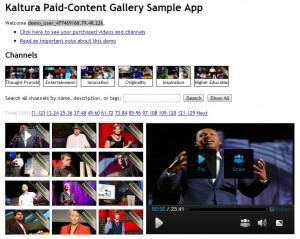 Kaltura Paid-Content Gallery Sample App