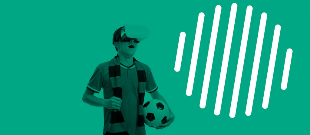 Kaltura. Sports Over IP - VR Headset w-Soccer ball