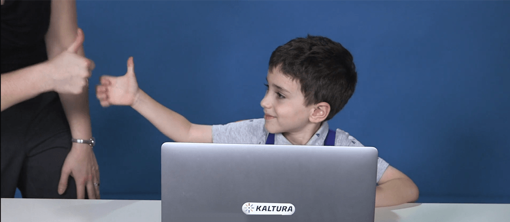Kaltura Personal Capture is so easy that kids can use it