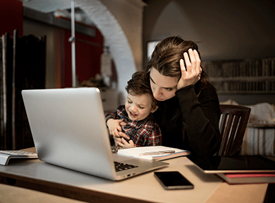 trying to work from home with kids