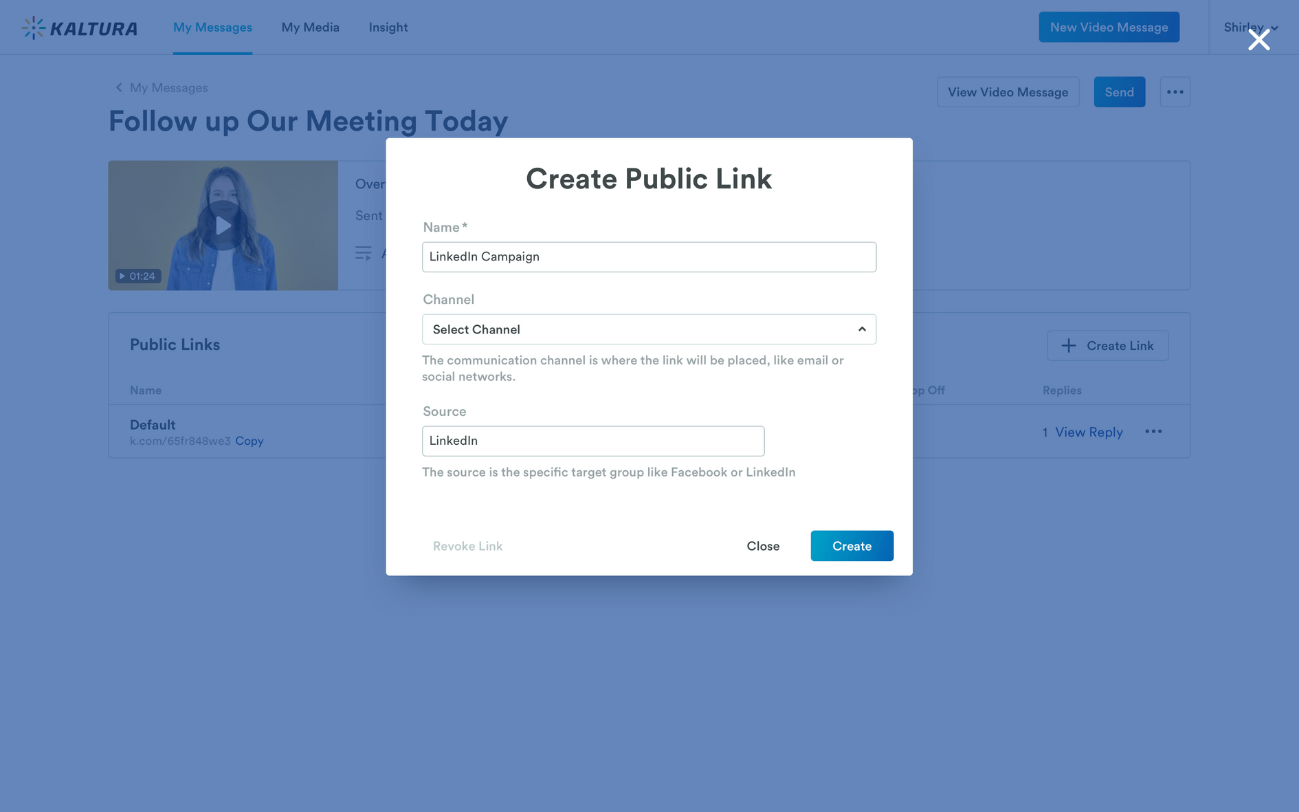 creating a link for a Pitch landing page
