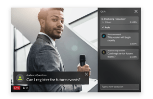 Speaker at a virtual event