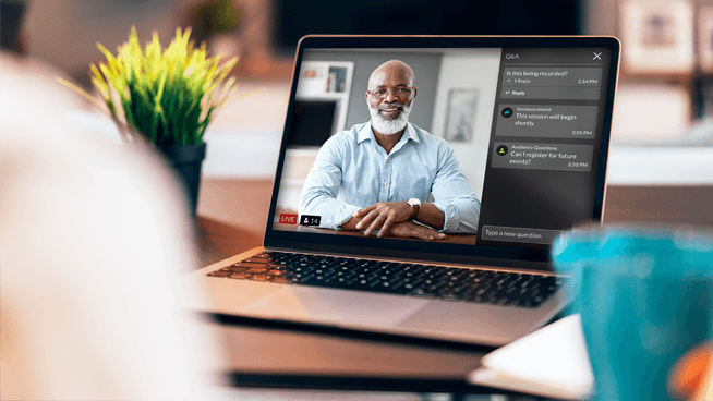 how to produce a big webcast from home