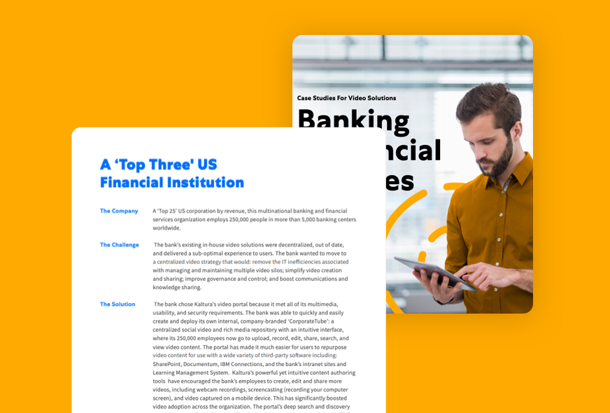 Banking & Financial Services Case Studies resource
